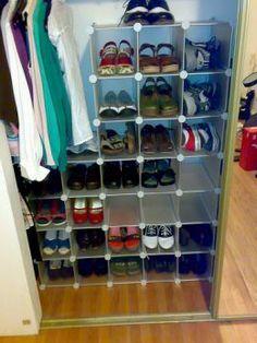 Interlocking shoe organizer