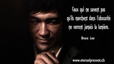 Citations de Bruce lee Image Citation, Quote Citation, Karate, New Life Quotes, Bruce Lee Family, Bruce Lee Photos, Funny Slogans, Happy Thoughts, How To Look Pretty