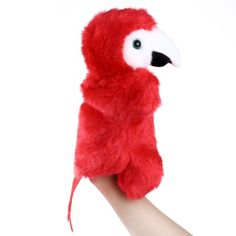 Plush hand puppets Soft Toy Parrot #CLICK! #clothing, #shoes, #jewelry, #women, #men, #hats