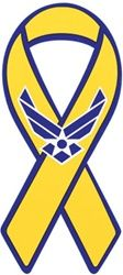 Air Force Hap Arnold Yellow Ribbon Magnet