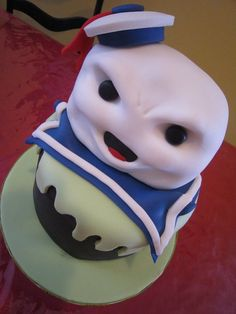 by Cakes That Make You Go Mmm Logan just said this morning that his next birthday is going to be a ghostbusters party! Cupcakes, Cupcake Cookies, Beautiful Cakes, Amazing Cakes, Ghostbusters Cake, Stay Puft Marshmallows, Cake Wrecks, Cakes For Men, Specialty Cakes