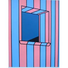 Window at Night by Patrick Caulfield    SOLD      Paper size: 100.3cm x 74.5cm  Image size: 86.8cm x 66.2cm    Signed screen print from a series of four in an edition of 72 with 15 proofs.   Printed at Kelpra Studios, published by Leslie Waddington Prints. A/P