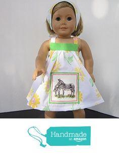 4H Farmgirl Mama & Baby Donkey Sundress + Reversible Head Scarf fits American Girl from Pawprint Pals https://www.amazon.com/dp/B06X14TFGQ/ref=hnd_sw_r_pi_dp_ld8MybJ3HR1XC #handmadeatamazon