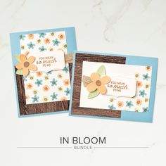 Stamp, cut, emboss, and build your own bouquet. Whether you're sharing birthday wishes, congratulations, or a simple hello, you can make many meaningful cards with the 21 stamp images and 25 coordinating dies included in the In Bloom Bundle. With so many images, the possibilities are endless! When purchased together in the In Bloom Bundle, both products are 10% off! Contact your Stampin' Up! Demonstrator or go to our online store today!
