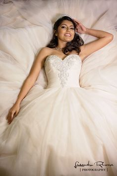 Quinceanera dress vintage dress.  Beige Quinceanera dress.   by Lisandro Rivera Photography
