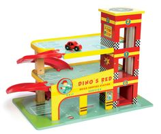 Dino's Red Garage from Le Toy Van, contact Voodle for NZ retailers