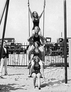 Fun at the beach, 1930, Chicago. Chicago Tribune Archives