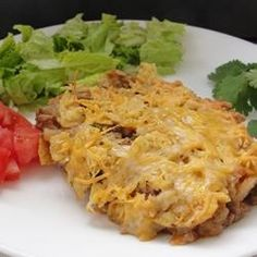 Easy Taco Casserole Recipe    Substitute Walden Farms Calorie Free Ranch Dressing for Mayo, use ground turkey instead of beef, and low-fat cheese to lighten up this tasty casserole!