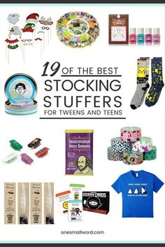 The Ultimate Pinterest Party, Week 127 I've collected the best Stocking Stuffers for Tweens and Teens this year. And everything on the list is available on Amazon.com for fast holiday shipping.  via @onesmallword