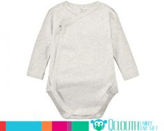 Organic Cotton Infant Baby Onesies Double Long Sleeve Plain Gray