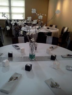 Branch Centerpiece :  wedding branch centerpieces ceremony diy reception silver teal white Wedding1
