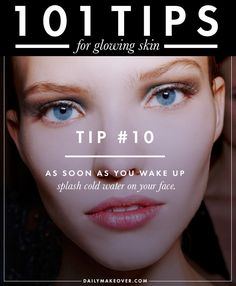 101 tips 10 101 tips for glowing skin Facial Tips, Facial Care, Skin Tips, Skin Care Tips, Beauty Regime, Beauty Care, Beauty Tips, Beauty Secrets, Radiant Skin