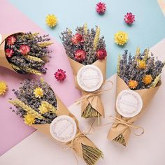 Pin by Khd on ورد Flower Bouquet Diy, Small Bouquet, Floral Bouquets, Dried Flower Arrangements, Dried Flowers, Paper Flowers, Flower Truck, Flower Farm, How To Wrap Flowers