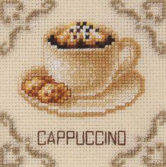 Cappuccino counted cross stitch