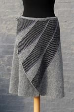 Sideways knit 'swing' wrap skirt