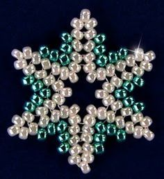 Free Bead Patterns and Ideas : Snowflake #93 Ornament - Free Pattern