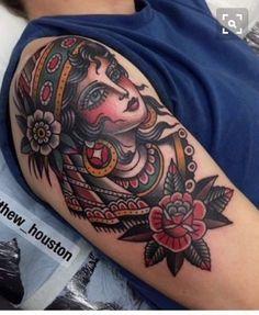 Gypsy tattoo by Matthew Houston