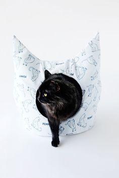 DIY šití postele kočky |  Podívejte se na Kate Sewová