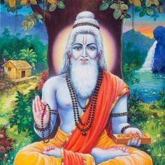 Bhagavan Sri Vedavyasa The festival of Guru Purnima is dedicated to him. It is also known as Vyasa Purnima for it is the day believed to be both his birthday and the day he divided the Vedas. Om Namah Shivaya, Indian Saints, Advaita Vedanta, Guru Purnima, Ganesha Pictures, Hindu Dharma, Bhakti Yoga, Lord Vishnu, Krishna Art