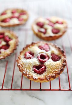 Kara: Berry Frangipane Tarts - This recipe is a quick one, a one bowl wonder I call it! No whipping egg whites to stiff peaks or anything arduous like that! Quick and Easy! mmm <3 <3