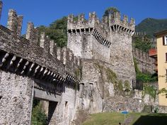 Bellinzona, Switzerland  This place was actually pretty cool, it is comprised of 3 castles.