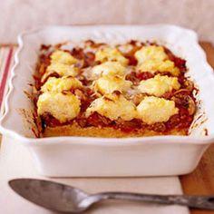 Cheese and Sausage Polenta Allrecipes.com