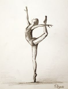 Ballett Tänzerin Zeichnung