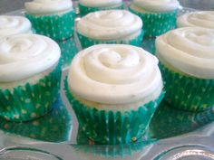 LF - key lime cupcakes with lime cream cheese frosting - use GF, AP flour, and GF, double-acting baking powder, and treat the cream cheese.