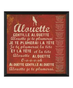 Love this! I remember singing this in french class in high school. CLASSIC