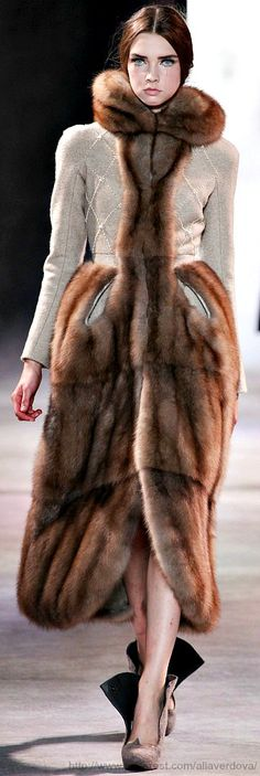 Inspiration for a fur coat remake... Ulyana Sergeenko Haute Couture Fall Winter 2013-14 collection