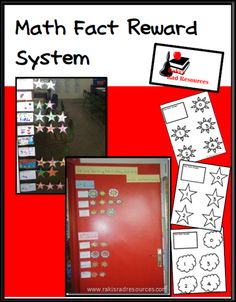 Free Math Fact Rewards - Free system to get your kids motivated to learn their math facts.