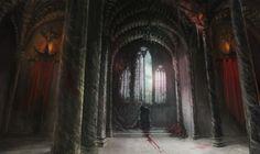 Cursed throne by on DeviantArt Fantasy Castle, Fantasy House, Medieval Fantasy, World Of Fantasy, Dark Fantasy, Fantasy Art, Fantasy Setting, Fantasy Landscape, Macabre