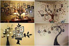 35+ Creative DIY Ways to Display Your Family Photos --> Original Family Tree Wall Decal