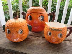 Vintage Florida Kitsch Souvenir Orange by MauraLynnsCollection