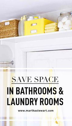 Save Space in Bathrooms & Laundry Rooms | Martha Stewart Living - Bathrooms and laundry rooms are notoriously cramped. Here's how to make the most out of the space you have.