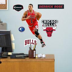 Fathead Chicago Bulls Derrick Rose Lower Wall Graphic