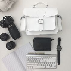 White leather camera bag by Grafea www.grafea.co.uk