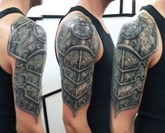 20 Amazing Armor Tattoos for Men (9)
