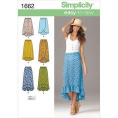 Simplicity Pattern 1662A Xs-S-M-L-X-Simplicity Misses Sk
