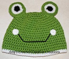 Amy's Crochet Creative Creations: Crochet Frog Child Hat