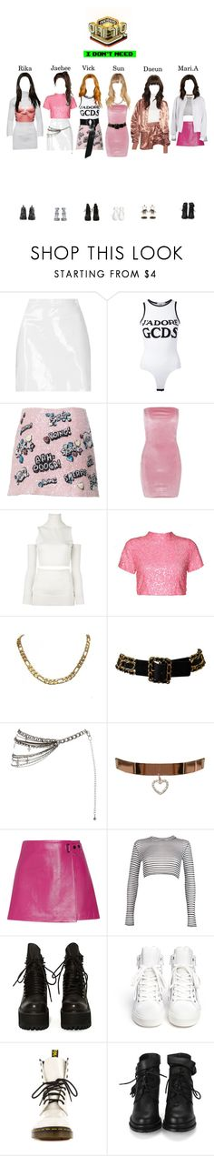 """""""."""" by starz-official on Polyvore featuring Boutique, GCDS, Boohoo, MM6 Maison Margiela, Marina Hoermanseder, Chanel, Johnny Loves Rosie, T By Alexander Wang, B Brian Atwood and UNIF"""