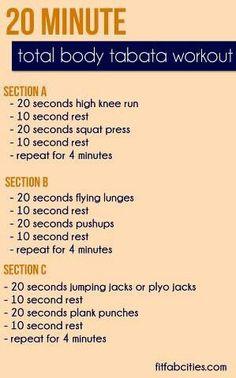 20 minute Total Body Tabata
