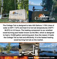 This is a stainless steel wood burning hot tub Cleaning Hot Tub, Wood Burning Heaters, Hot Tub Cover, Option B, Pool Heater, Cedar Siding, Lake Water, Solar Power, Stove