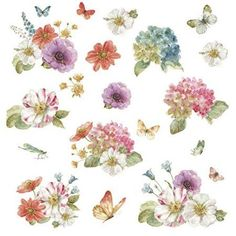 Roommates Lisa Audit Garden Bouquet Peel and Stick Wall Decals, Multicolor