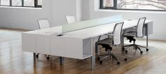 Find out all of the information about the INSCAPE product: workstation desk / laminate / contemporary / commercial INSCAPE BENCH . White Furniture, Office Furniture, Office Desk, Office Spaces, Work Station Desk, Office Environment, Coworking Space, Cool Patterns, Classic White