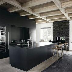 Modern rustic. Bilde via pinterest. #inspirasjon #kjøkken #interiør #home #inspiration #kitchen #interior #lifestyle #houzoslo