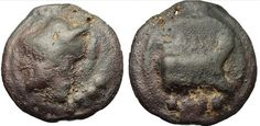 Roman cast triens (third of as).   ca 225-217 BC.   Weighs 87.10g