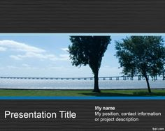 Longbridge PowerPoint Template is a free PPT template for nature presentations but also interesting background template for cement companies or bridge building companies