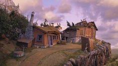 Det som sner - fra Solan og Ludvig - Jul i Flåklypa Norway, Mansions, House Styles, Grand Prix, Animation, Home Decor, Movies, Decoration Home, Manor Houses
