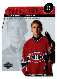 2002-03 Upper Deck Marcel Hossa Young Guns Card Montreal Canadiens